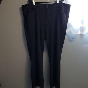 Torrid sz 24 short stretchy black dress pant